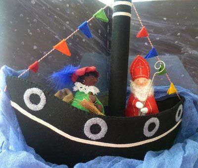antroposofie kerst - Google zoeken St. Nicholas and ship in felt