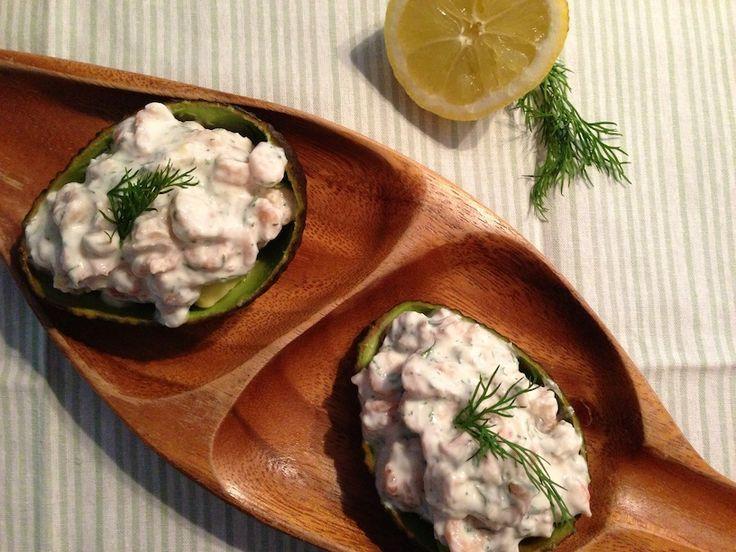 Gevulde avocado met garnalen. http://www.francescakookt.nl/gevulde-avocado-met-garnalen/