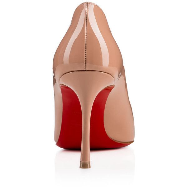 Merci Allen 85 Patent 85 Nude Patent calfskin - Women Shoes -... (1.965 BRL) ❤ liked on Polyvore featuring shoes, pumps, christian louboutin shoes, calf leather shoes, nude court shoes, nude shoes and patent pumps