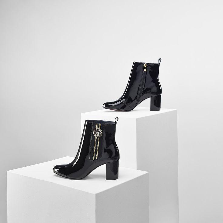 Lederstiefel Von Gigi Hadid | BLACK | Tommy Hilfiger® | 8719112296967