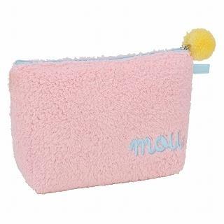 ROOTOTE Pompom Pouch [AVION DE PAPIER - Gloss-B] Pink – One Size 1022649720: Pink Pale Yellow, Pouch Avion, Plane, Paper, Pale Pink Pale, Pompom Pouch, Size 1022649720, Rootote Pompom
