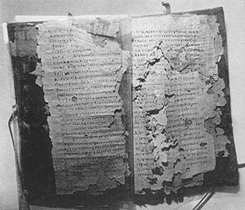 Nag Hammadi codices. Discovered in a clay jar in Egypt in 1945. The codices were eventually discovered to be secret sacred Christian texts. The books were created over 1,500 years ago, during the first centuries of Christianity. Some of them had never been mentioned before, in any Christian literature; others had been declared heresy, and banned by the Church. They offer a counter-point to accepted ecclesiastical literature, and have been controversial ever since their discovery.