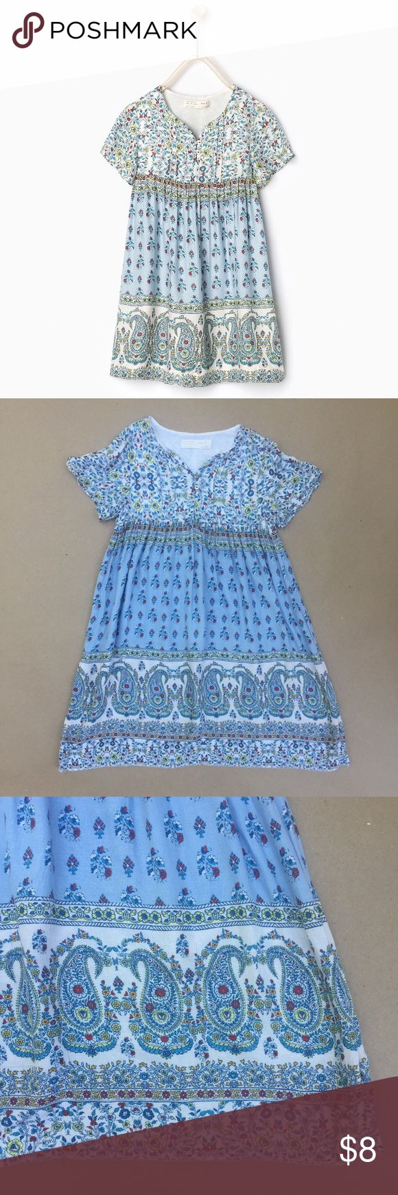 Zara girls dress Lightweight fabric, printed dress. Runs small, fits more like a 5/6. The hem was dropped for longer length. Zara Dresses Casual