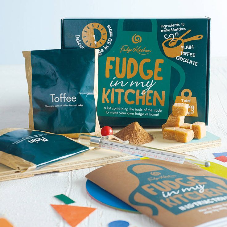 This kit contains everything you need to make Fudge Kitchen's unique style fudge at home.