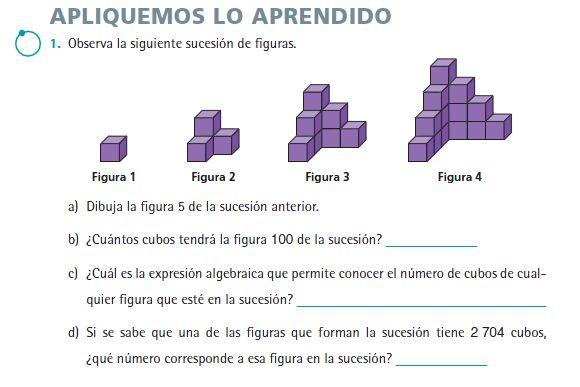 En 3º estudiaremos las sucesiones cuadráticas (encontrando la fórmula): ¿Cuál de las siguientes opciones muestra la expresión algebraica ...