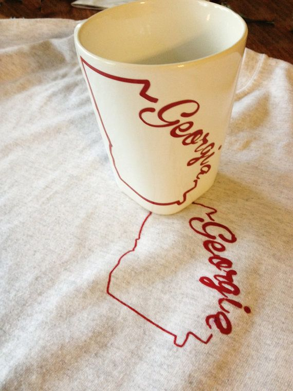 Simple yet chic. Perfect to me of home.  https://www.etsy.com/listing/170913292/state-outline-mug-georgia-state-mug