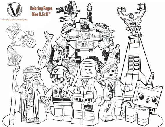 The Lego Movie Coloring Pages 15 Pages Game Games