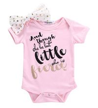 Roupa Das Meninas Da Criança Do Bebê recém-nascido Bodysuit Rosa Flor Arco Carta Rosa Macacão de Bebê Roupas de Menina Definido alishoppbrasil