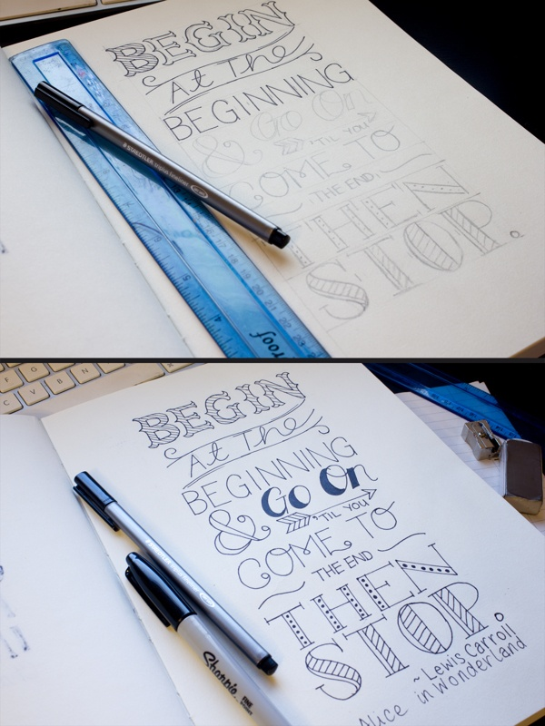 Typography - Quotes - Lewis Carroll - Alice In Wonderland by Robynn L. Gardner, via Behance