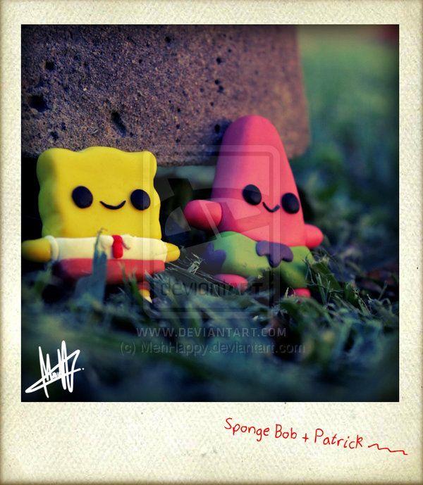 Spongebob and Patrick_ by MehHappy.deviantart.com on @deviantART