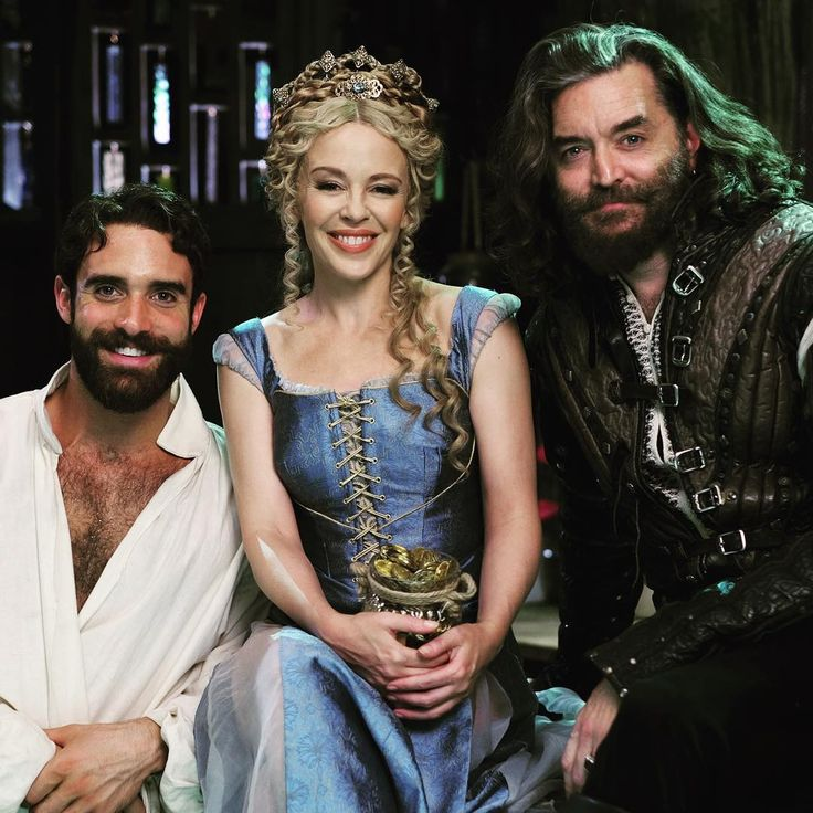 """""""Guest star @KylieMinogue joins our favorite duo TONIGHT on the season premiere of #Galavant!"""""""