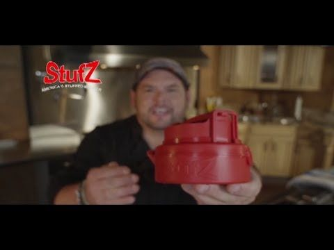 http://asseenontvblog.net/index.php/stufz-burger-press-makes-perfectly-sealed-stuffed-burger-patties-every-time/ Stufz is a special burger press that makes a deep pocket that you can easily stuff with your favorite ingredients for a perfectly sealed, perfectly tasty, stuffed burger that won't leak until you bite into it! #video #stufz #burger #asseenontv #asotv #grilling