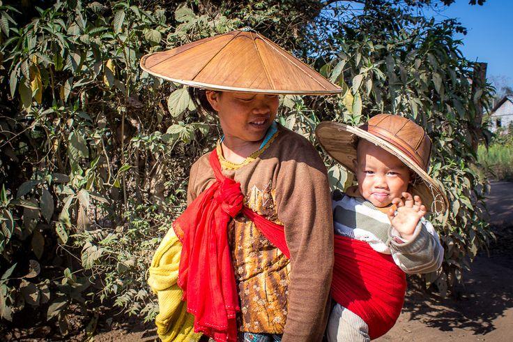Trekking from Hsipaw, Myanmar - encountering locals in a rural village.