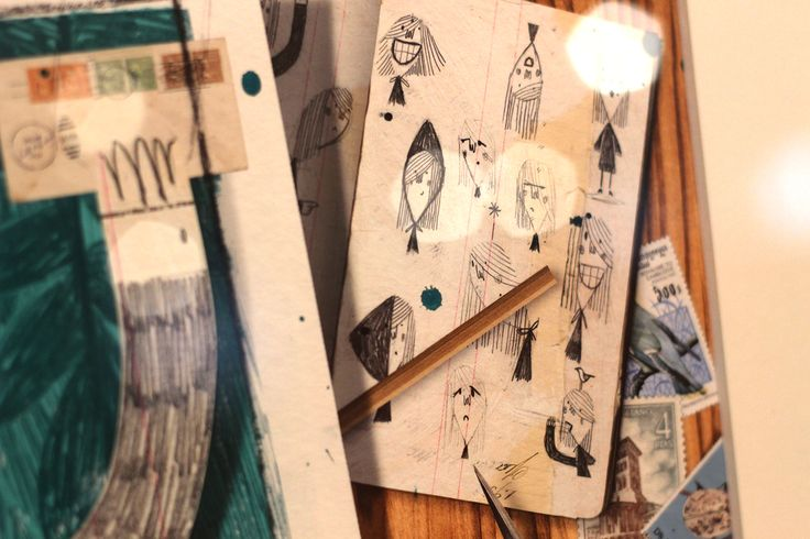 """""""La ladrona de libros"""" """"Julio A. Blasco. Exposición """"Caperucitas al Rojo Vivo"""" Museo ABC Madrid #Ilustración #Arterecord 2015"""
