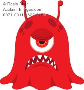 Scary Monster With Big Teeth