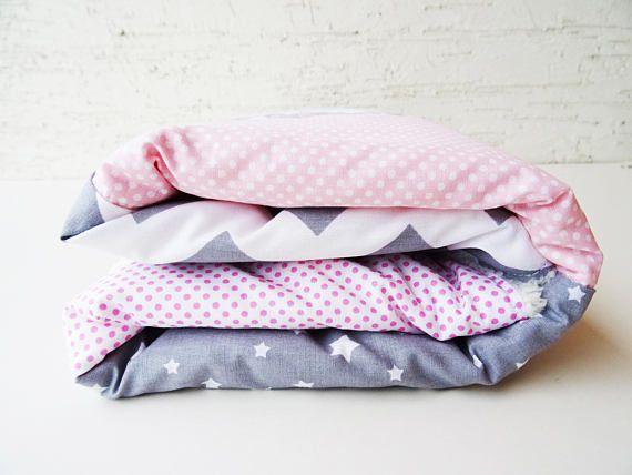 Baby Blanket Baby Pink Gray Blanket Baby Shower Gift