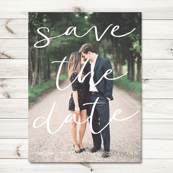 Photo Save the date cards save the dates by sweetinvitationco