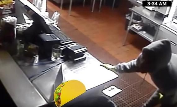 Taco shop turns robbery footage into hilarious commercial!