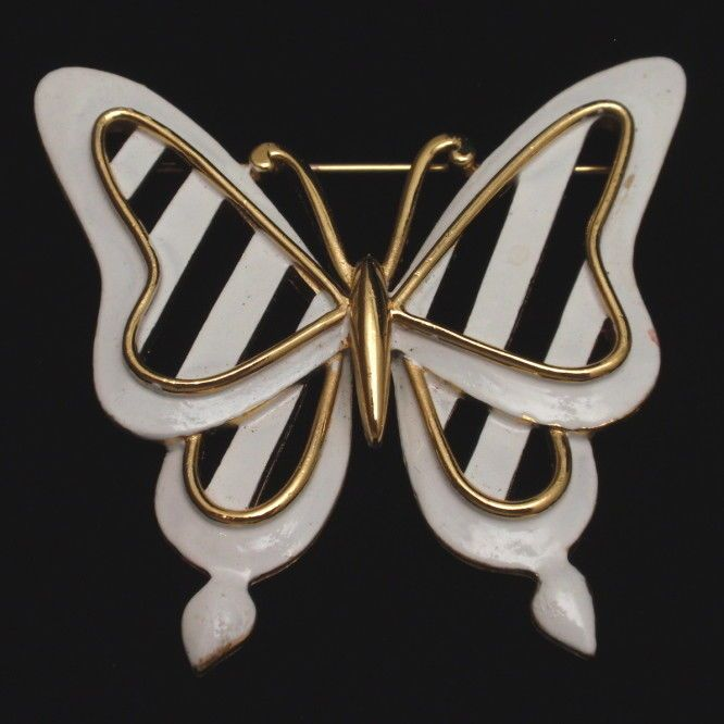 Vintage butterfly pin collection