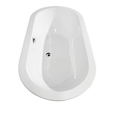 Wyndham Collection Soho 5 ft. Center Drain Soaking Tub in White-WCOBT100260 - The Home Depot