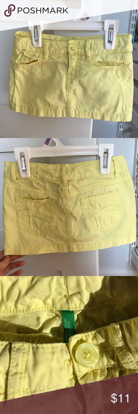 Toddler Girl Mini Skirt from Benetton In a good used condition. Size 2T. If you have any questions please comment below United Colors Of Benetton Bottoms Skirts