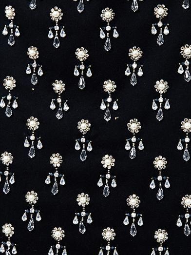 No. 21 Crystal embellished wool skirt