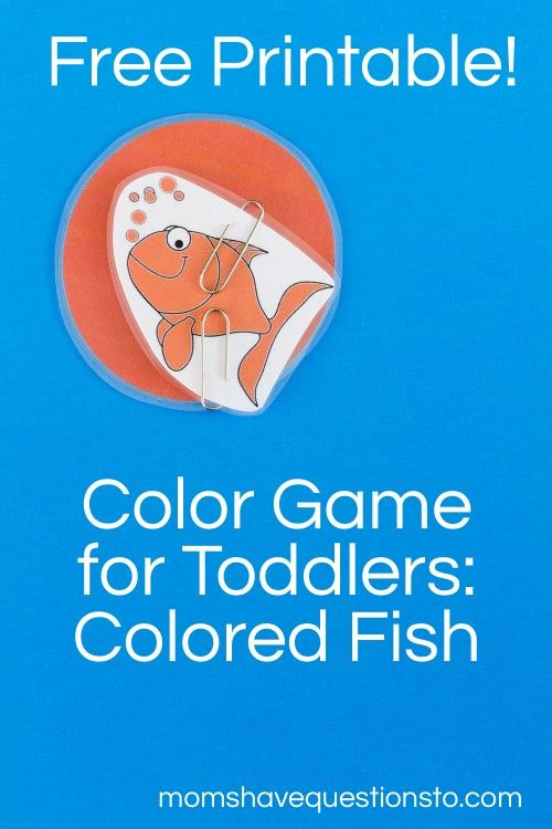free printable colored fishies color game with a fun poem to learn - Free Color Games