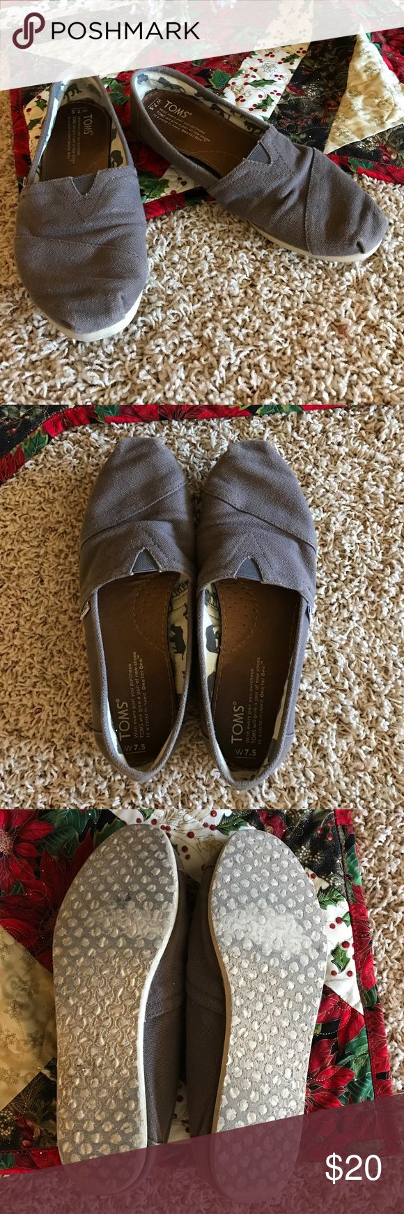 Women's Ash Gray Toms Ash Gray Toms shoes! Gently loved, great condition. Size 7.5 women's TOMS Shoes Flats & Loafers