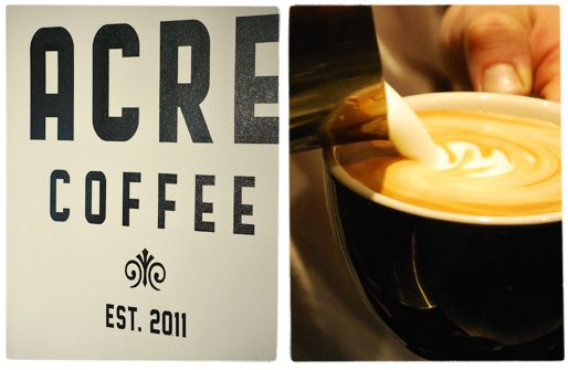 ACRE Coffee is organic, sustainable, and delicious - it's also conveniently located just at the end of our block.