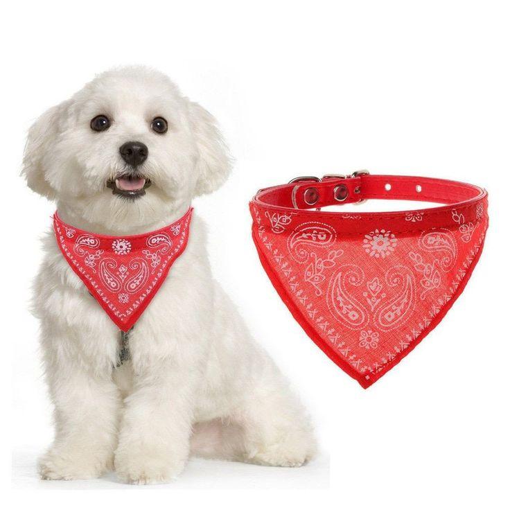 Adjustable Bandana Scarf Necktie for Dogs #bandana #collar #leash