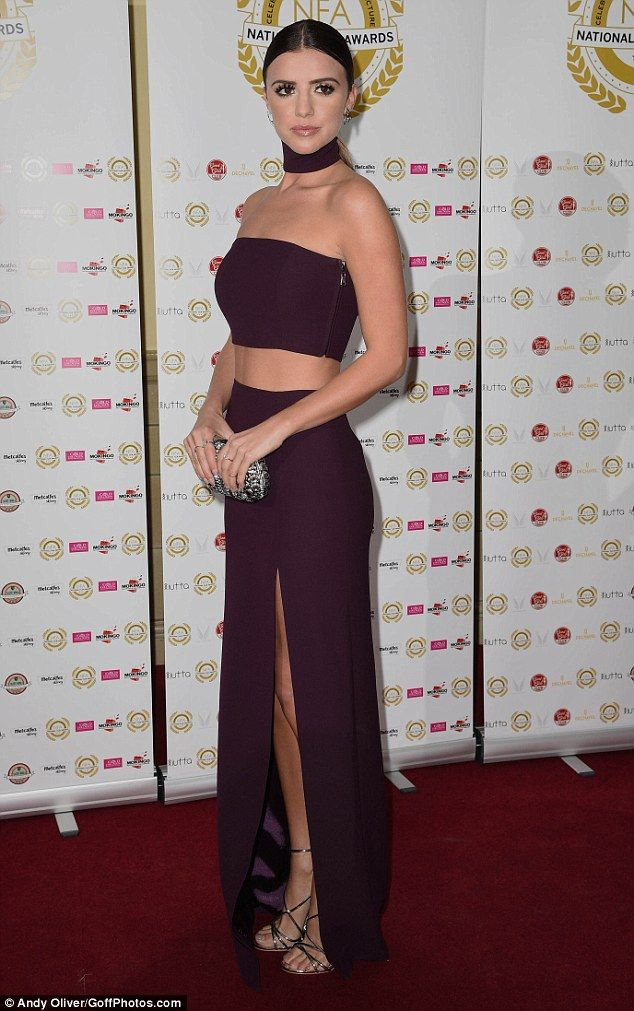 Lucy Mecklenburgh flaunts her stunning figure at the National Film Awards | Daily Mail Online
