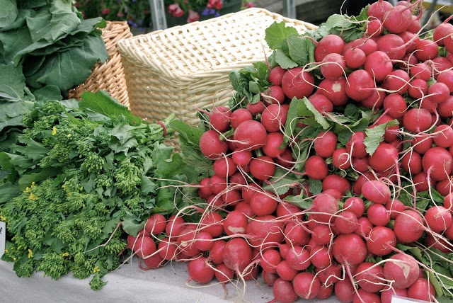 Radishes at the River District http://weekdays-from-scratch.blogspot.ca/2013/05/field-trip-mommas-choice.html