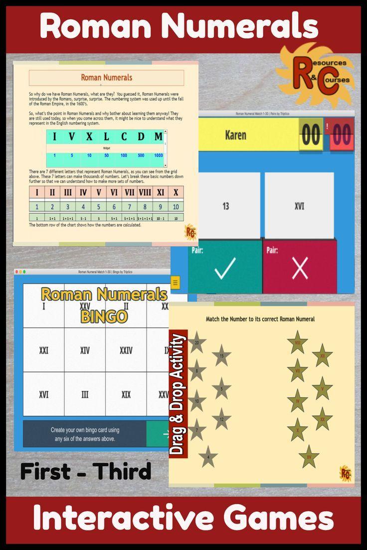 Roman Numerals Interactive Resources Set 1st 3rd Grade Primary Students Unique Teaching Roman Numerals [ 1103 x 736 Pixel ]