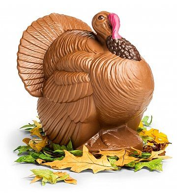 Bissinger's Chocolate Turkey Centerpiece Thanksgiving Chocolate Gift. Plump and bountiful, this holiday turkey centerpiece is sure to capture the attention of everyone at your holiday gathering.