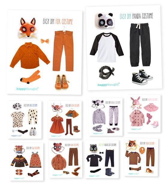 Fun and simple ideas for putting a fancy dress outfit together at home. 10 dress up Animal costume! #costume https://happythought.co.uk/craft/animal-costume-ideas