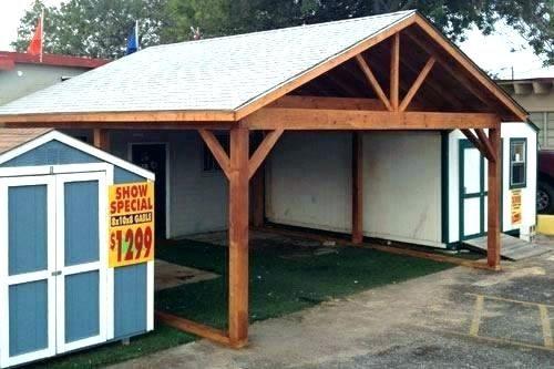 30 Designer Series Free Standing Carport Wooden