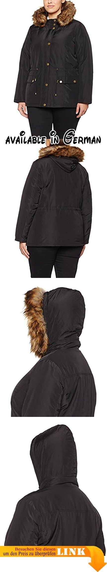 Studio Untold Damen Parka Mantel - Jacke 707042, Gr. 42, Schwarz (schwarz 10). <p>Modische Jacke mit vielen feinen Details - Abnehmbarer Webpelz an der Kapuze, verdeckter Reißverschluss & 2 Taschen. </p><p>Eine tolle Übergangsjacke durch die leichte Fütterung und den abnehmbaren Pelz -im Herbst, Winter oder Frühling immer bestens ausgestattet. </p><p>Der Parka hat einen Reißverschluss & Knopfleiste aus Druckknöpfen. <p>Der gerade Schnitt bietet einen besonderen Komfort