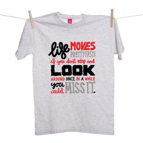 Ferris Bueller's Day Off' Typography T-shirt #towear
