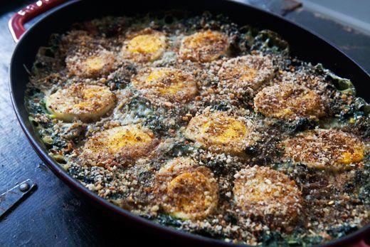 Spinach Egg Gratin: Hard Boiled, Fun Recipes, Side Dishes, Spinach Gratin, Boiled Eggs, Savory Recipes, Easter Eggs, Eggs Recipes, Simply Recipes