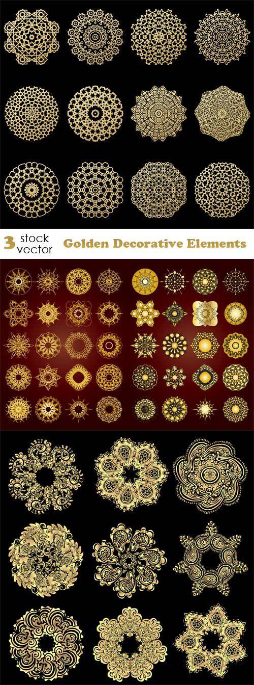 Vectors - Golden Decorative Elements