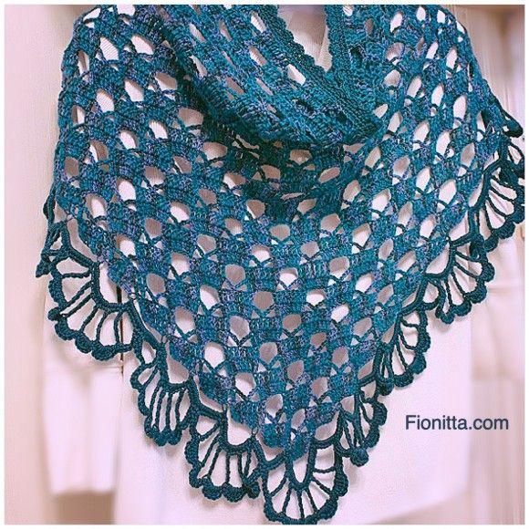 #crochet, free pattern (chart), wrap, shawl, #haken, gratis patroon (Engels), haakschema, omslagdoek