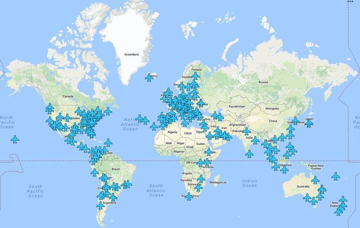 Fini les galères de wifi à l'arrivée de votre vol ou en escale. Cette carte géniale recense tous les codes wifi des aéroports à travers le monde !