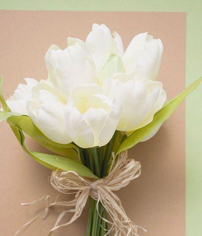Risultati immagini per bouquet di tulipani bianchi