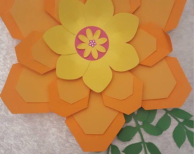 Paper Flower Template  PDF files #11