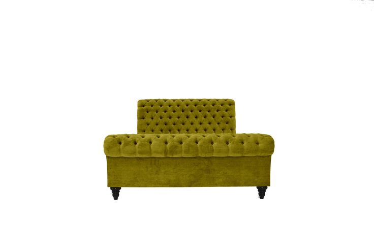 CLASSIC UPHOLSTERED CHESTERFIELD BED SAGE