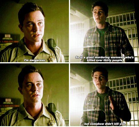 "Teen Wolf Season 5B Episode 15 ""Amplification"" Stiles Stilinski and Deputy Jordan Parrish"
