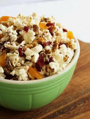 Popcorn, Dried Fruit & Nut Trail Mix