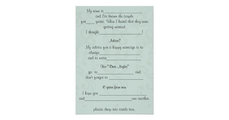 Funny Wedding Advice, Comment Card | Zazzle