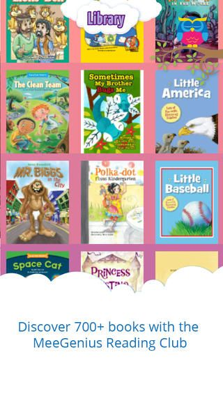 MeeGenius. Der er 3 gratis bøger, ellers koster de. Når der læses op highlightes ordet. De 3 gratis bøger er Pajam girl, the little red hen og Cinderella. Mellemtrinnet.