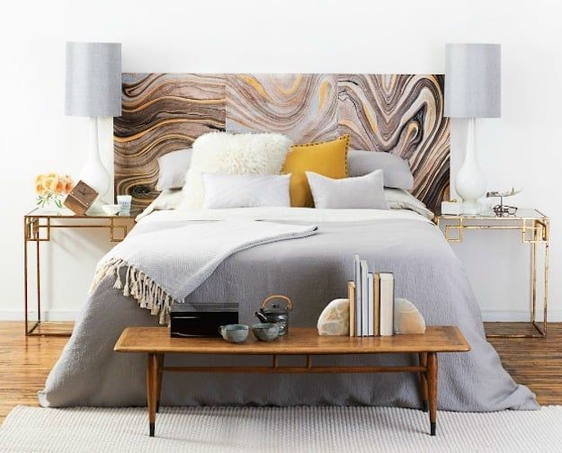 Patterned Headboard   DIY Headboard Ideas to Build for Your Bed